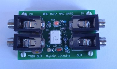 Mystic Circuits 0HP VCA/AND Gate
