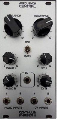 Frequency Central Continuum Phase Shifter mk II