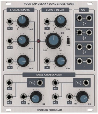 Sputnik Four-Tap Delay/Dual Crossfader